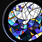peace dove - church window - against violence