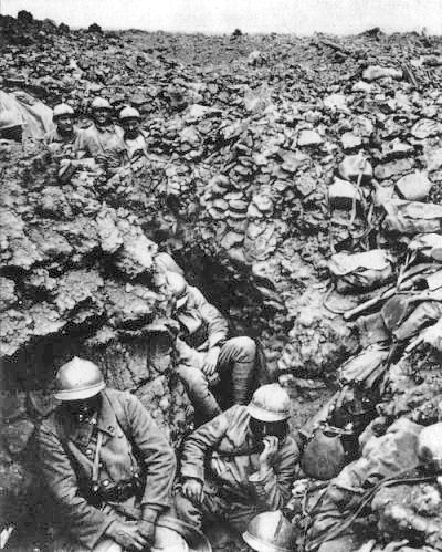 a french regiment entrenched at Verdun