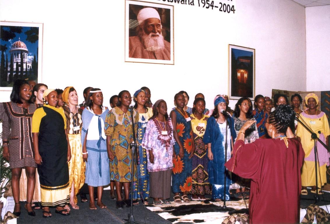 Baha'i music - Baha'i choir for jubilee Botswana