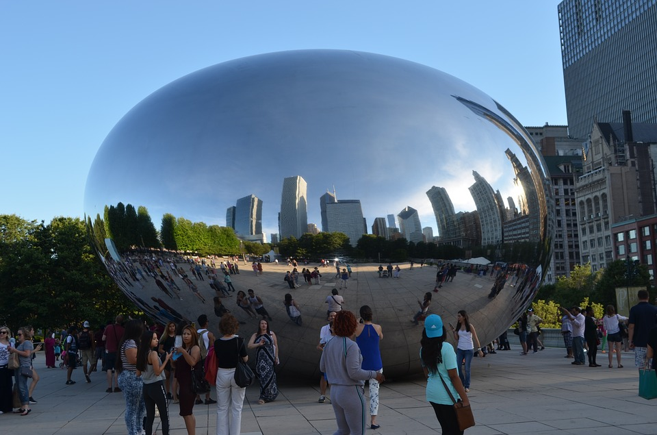 Chicago Artwork Bean newspapers - mirror of the world