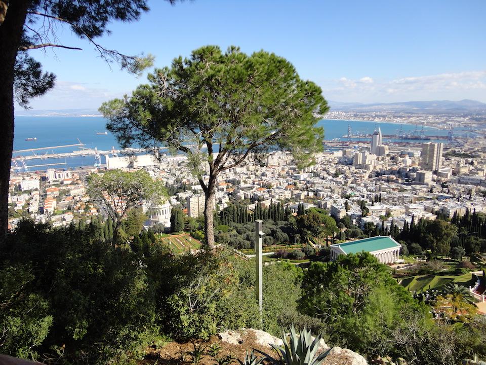 mt carmel overlooking bay of haifa
