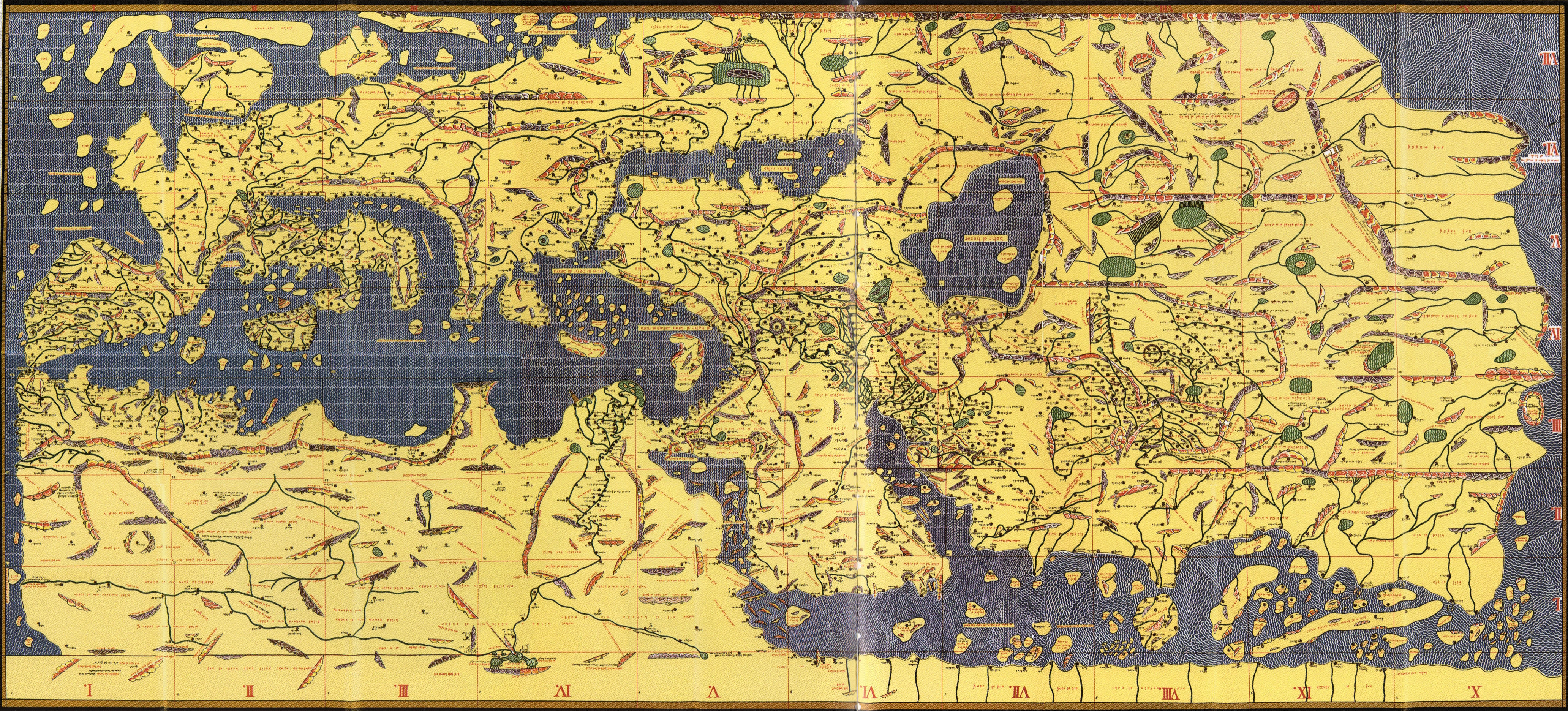 Sicily S Medieval Map Of The World Italian Stories